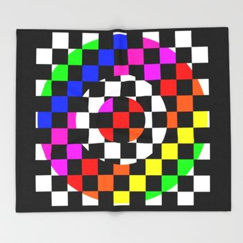 Triggle | Colorful Secret Geomoetry | Play Throw Blanket by Azima