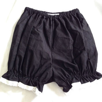 Black with White Lace Gothic Lolita Bloomers