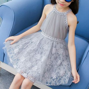 2018 Baby Flower Girl Dresses Princess Lace Wedding Party Pageant Formal Dress Kids Prom Homecoming Tulle Dresses 2-10Y
