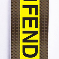 iPhone 5S Case - Hard (PC) Cover with fendi logo Plastic Case Design