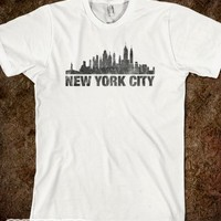 New York-Unisex White/Chocolate T-Shirt