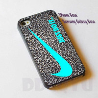 Nike Just Do It Leopard Silver cover for iPhone 4/4S/5/5S/5C Case, Samsung Galaxy S3/S4 Case