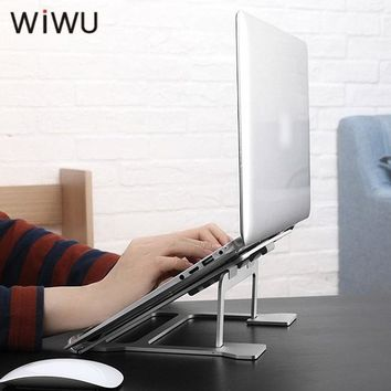 WIWU Aluminum Laptop Stand Portable Lapdesks for MacBook Air Pro 11-15 inch Adjustable Cooling Support Notebook PC Tablet Stand