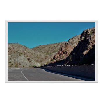 Mountain Highway in Arizona Poster