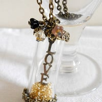ALCHEMY of LOVE Steampunk Inspired Vintage Necklace