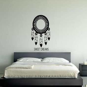 Wall Decor Vinyl Sticker Room Decal Art Tattoo Tribal Dream Catcher Sweet Dreams 609