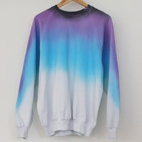 ANDCLOTHING — Lavender Night Sky Dip Dye Sweater SOLD OUT