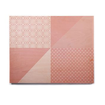 """afe images """"AFE Abstract2"""" Coral Pink Abstract Pattern Digital Illustration Birchwood Wall Art"""