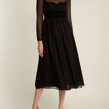 Polka-dot fil-coupé silk-blend gown | Valentino | MATCHESFASHION.COM US