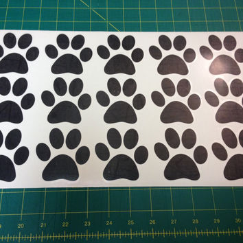 15 Pack Paw Prints Decals  C2300