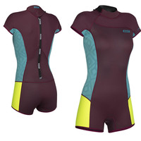 ION Wetsuit MUSE SHORTY SS 2,5 DL (BACKZIP) - wine/lime