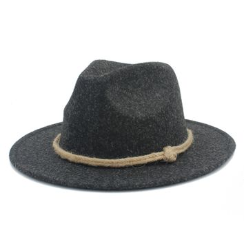 Women/Men's Wide Brim 100% Fedora Hat