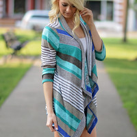 True Colors Cardigan - Blue