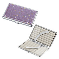 Visol Glamour Purple Glitter Double Sided Cigarette Case