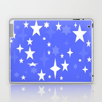 Periwinkle Blue &White Atomic Stars Laptop & iPad Skin by 2sweet4words Designs | Society6
