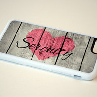 Serenity Inspirational Personalized Rustic Wood Phone Case, iPhone 4, 4s, 5, 5s, 5c, 6, 6+, Samsung Galaxy S3, S4, S5, S6