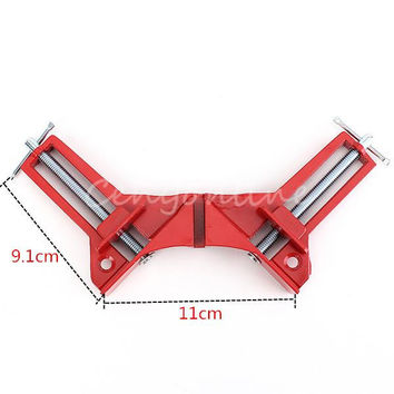 Newest 90 degree Right Angle Clamp 100MM Mitre Clamps Corner Clamp Picture Holder Woodwork Best Price