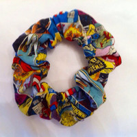 Marvel Comics Hair Scrunchie Avengers Superhero by StylishGeek