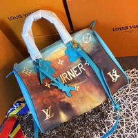 DCCK2 L047 Louis Vuitton LV Speedy 30 Turner Soft Lightweight Classic City Handbag 30-21-17cm Blue