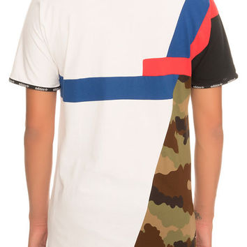 The adidas Block Long Tee in White