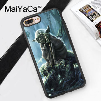 YODA LEGEND STAR WARS Pattern Capa Phone Cases Cover For iPhone 7 7Plus 4S 5S SE 5C 6 6S 6Plus Soft Rubber Back Cover