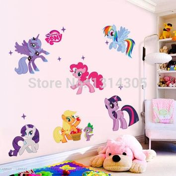 Pretty Cartoon My Little Pony Wall Decal Vinyl Art Sticker Girls Kids Room Decor