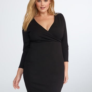 Rebel Wilson for Torrid Embellished Surplice Dress