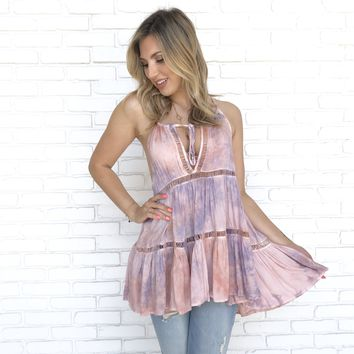 To Dye For Pink Tunic Top