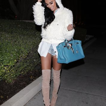Kim Faux Fur Bomber Jacket - White