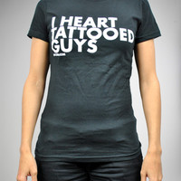 "DPCTED ""I Heart Tattooed Guys"" Junior Fitted Tee"