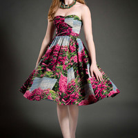 Tracy Reese Long Strapless A-line Tracy Reese Beautiful Botanist Dress