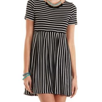 Striped Babydoll T-Shirt Dress by Charlotte Russe