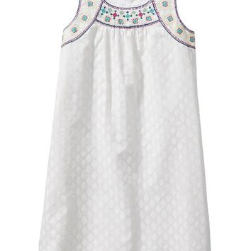 Old Navy Girls Embroidered Yoke Dresses