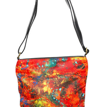 Art Deco Purse | Abstract Art Purse | Abstract Purse | Art Purse | Galaxy Purse | Leather Purse | Leather Shoulder Bag | Leather Sling Purse