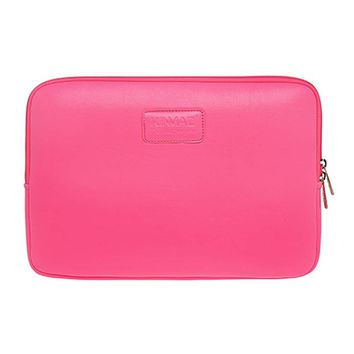 Fashion Computer Bag Simple Style Leather Laptop Sleeve Zipper Case Cover Bag