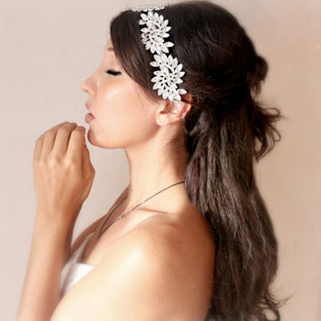 Princess Bride Rhinestone Bridal headpiece wedding tiara by deLoop