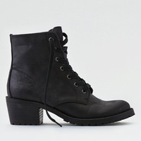 AEO Lace-Up Lug Bootie, Black