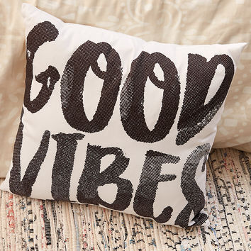 Dormify Good Vibes Pillow, White