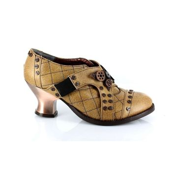 Hades Shoes H-Icon 2 inch Heel Retro Oxford with elastic strap
