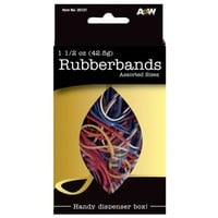 A&W Products Rubberbands, Assorted Size and Color (35121)