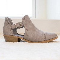 Qupid Distressed Slip On Booties