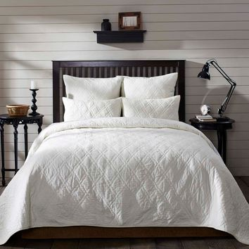 VHC Brands Casey Country Cotton Quilt King or Queen-6 Colors