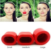 Pump up your Pout Fuller Lips Plump Enhancer Suction Red Beauty Lip