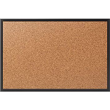 Staples Standard Cork Bulletin Board, Black Aluminum Frame, 2W x 1.5H | Staples