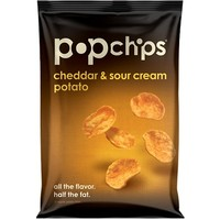 Popchips Cheddar and Sour Cream Potato Chips 0.8 oz Bags - Pack of 24