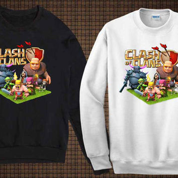 clash of clan characters sweater clash of clan sweatshirt fit for you and your children