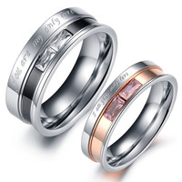 Fashion Jewellery Stainless Titanium Steel Couples Rings = 1929609348