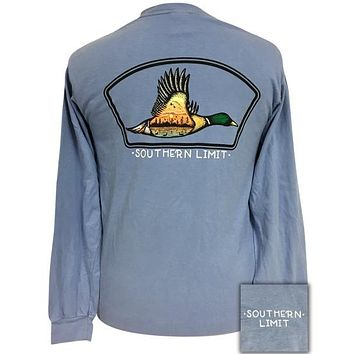 Southern Limits Mallard Tat Unisex Comfort Colors Long Sleeve T-Shirt