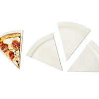PIZZA PLATES - SET OF 4 | pie plate, ceramic pie plate, deep dish pie plate | UncommonGoods