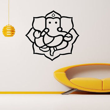 WALL DECAL VINYL STICKER ANIMAL ELEPHANT GANESHA HINDU INDIAN DECOR SB810
